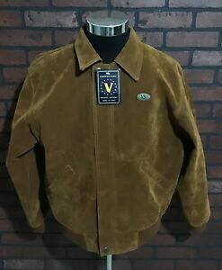 Vintage Synthetic Suede Bomber Jacket Alta Moda Italy Faux Suede Bomber Jacket XL