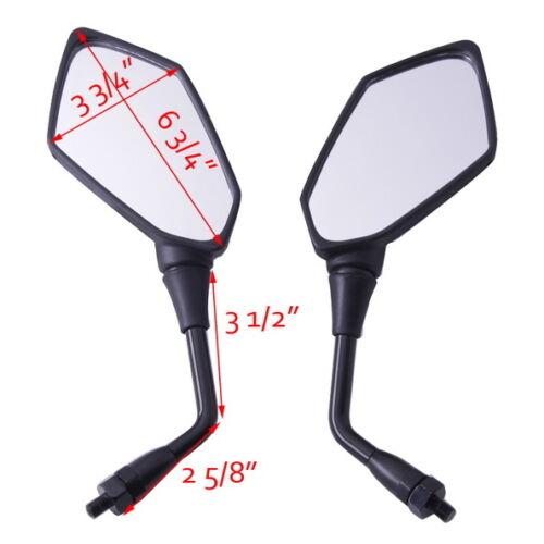 Pair Rear View Mirrors For kawasaki Z750 Z1000 ZRX1100 ZRX1200 KLE650 Versys 650