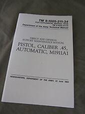 Technical Manual TDV Colt M1911A1 Cal.45 Goverment USMC Army Vietnam Marines WK2