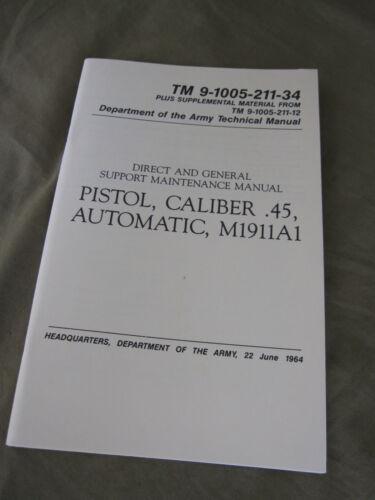 Technical Manual TDV Colt m1911a1 cal.45 goverment USMC ARMY MARINES VIETNAM wk2