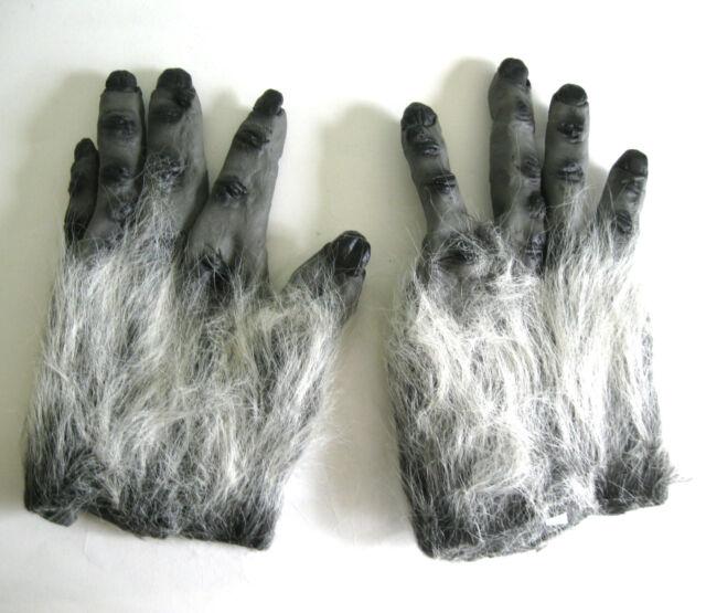 Gray Hairy Ape Hands Gorilla Halloween Monster Costume Adult Gloves  sc 1 st  eBay & Gray Hairy Ape Hands Gorilla Halloween Monster Costume Adult Gloves ...