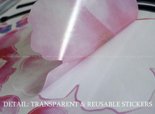 Rose grand fleurs pivoine Vinyle Wall Stickers Stickers Papier Peint Décoration Art Maison DIY