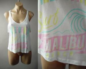 Malibu-California-Surf-Beach-Pastel-Graphic-White-Tank-Top-238-mv-Shirt-S-M-L