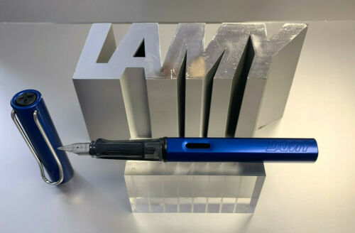 M Lamy Al Star Oceanblue metallic blau Füllhalter Füller EF LH wählbar F B