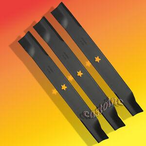 """3 USA XHT BLADES FOR HUSQVARNA 539113312 EZ5224 EZ6124 MZ6125 MZ6128 W// 61/"""" DECK"""