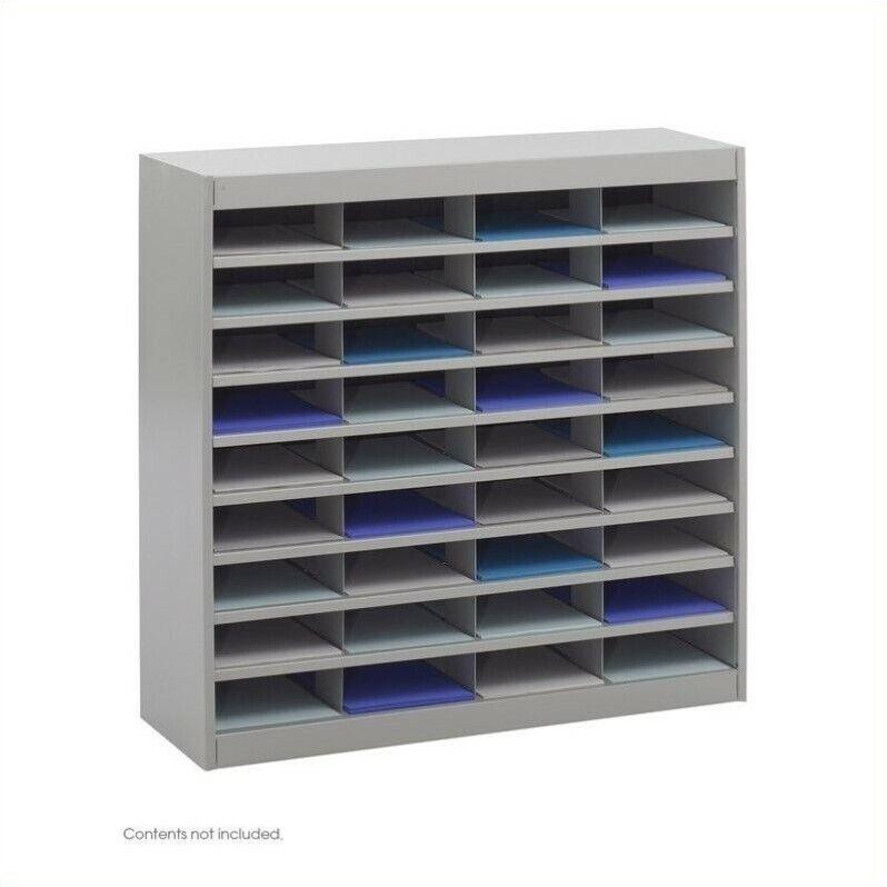 Scranton & Co Grey Mail Organizer - 36 Letter Size Compartments