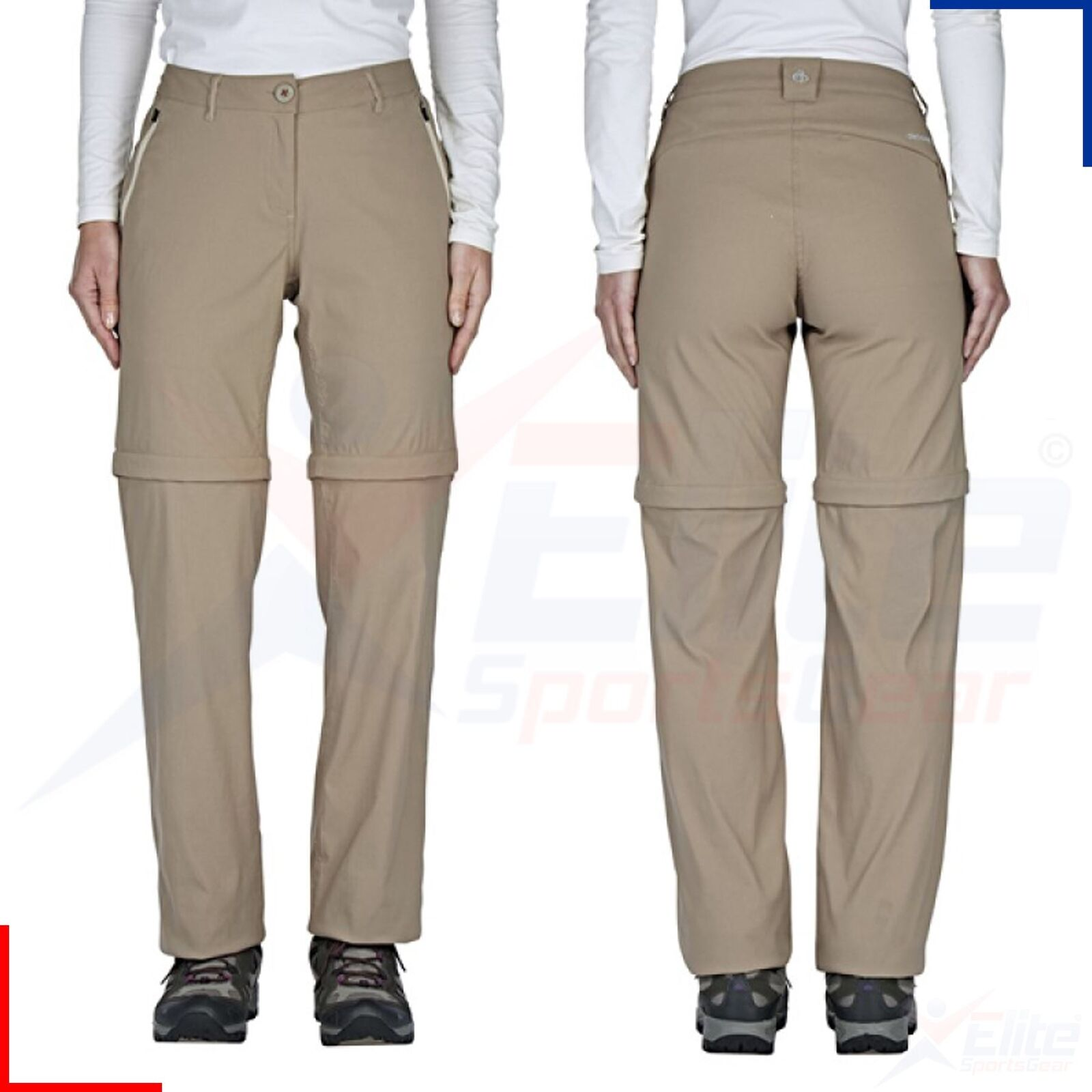 Craghoppers Ladies Kiwi Pro Stretch Walking Trousers  Zip Off Shorts -