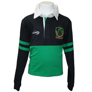 c94738d7e Ireland Long Sleeve Kids Shamrock Rugby Shirt (Age 6/12mth - 11/12 ...