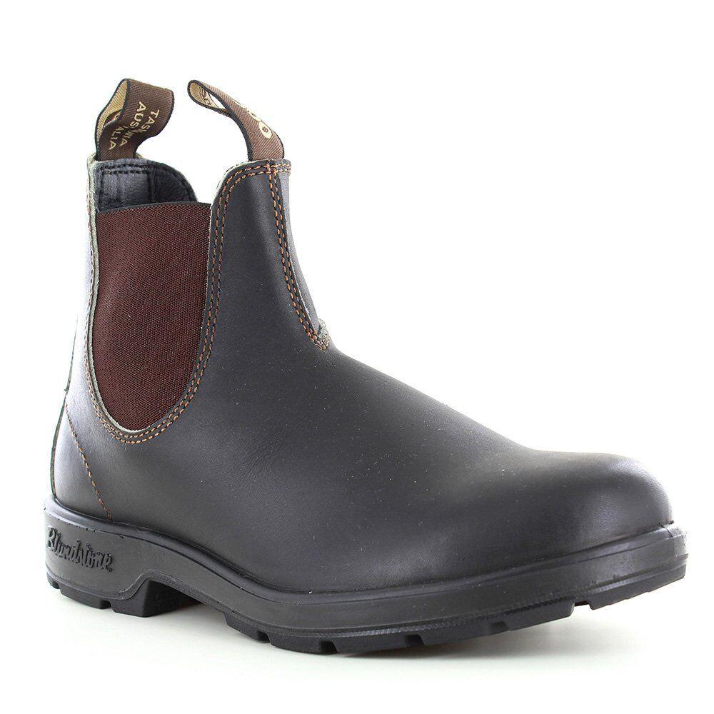 Blaundstone 500 Unisex Leather Chelsea Stiefel - Stout braun