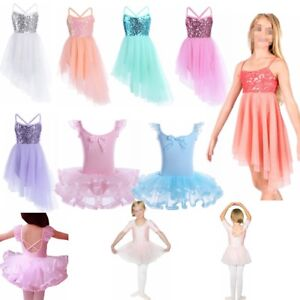 Children-Kids-Girls-Leotard-Dance-Dress-Costumes-Ballet-Tutu-Skirt-Dancewear