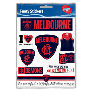 Melbourne-Demons-AFL-LOGO-Car-Sticker-Sheet-School-Christmas-Birthday-Gift