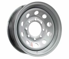 Equipment Trailer Rim Wheel 16 in. 16X6 8 Hole Bolt Lug Silver Modular Design