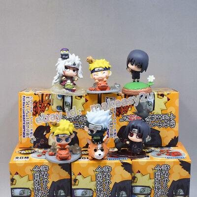Set 6pcs Anime Naruto Shippuden #7 Figure 4-6CM Toy New in Box