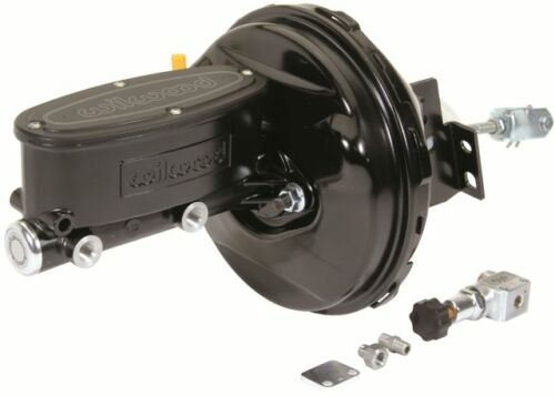 """68-74 CHEVY II NOVA 1/"""" WILWOOD CPP MASTER CYLINDER POWER BOOSTER KIT BLACK"""
