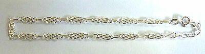 Sterling Silver  Celtic Pattern Ankle Anklet Chain                 A46846