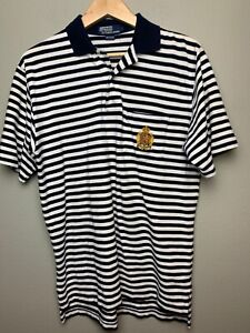 Vintage-Polo-Ralph-Lauren-Striped-Crest-Orange-Green-Polo-Shirt-Adult-Size-M