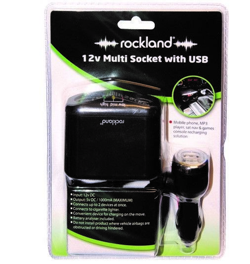 Rockland 12v Multi Socket With Usb Car Charger Kit Battery Analyser