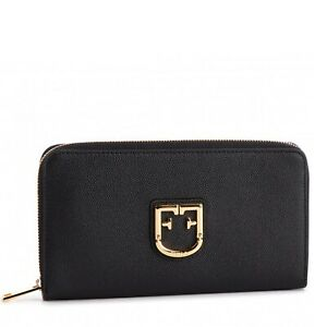 Furla-Belvedere-Ladies-wallet-in-saffiano-leather-with-zip-closure-Black