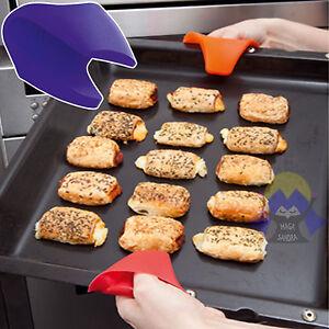 Presine in silicone da forno cucina guanti prese gomma per cottura pentole caldo ebay - Guanti da cucina ...