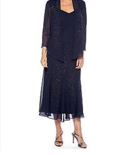 R/&M Richard Mother of Bride Groom Women/'s evening  jacket dress plus L XL1X 2X3X
