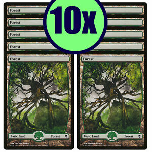 10x FOREST 249 Full Art Basic Land NM/LP MTG Magic ORIGINAL Zendikar ZEN