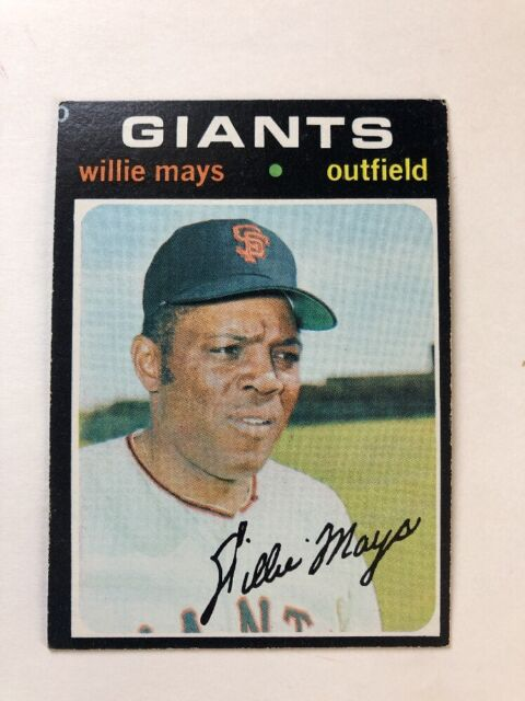1971 Topps Willie Mays 600 Baseball Card