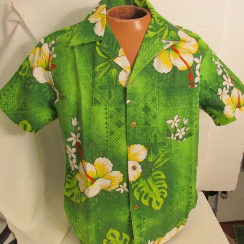 Royal Hawaiian shirt vtg Barkcloth Japanese Button
