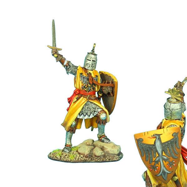 Första legionen  CRU070 Crusader Knight med Brienne Family Heraldry