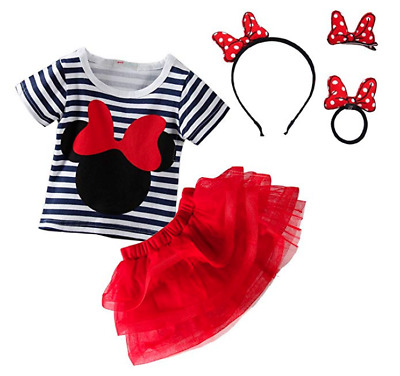 Mud Kingdom Toddler Girls Cartoon Cute Set T-Shirt and Tutu Skirt Outfit