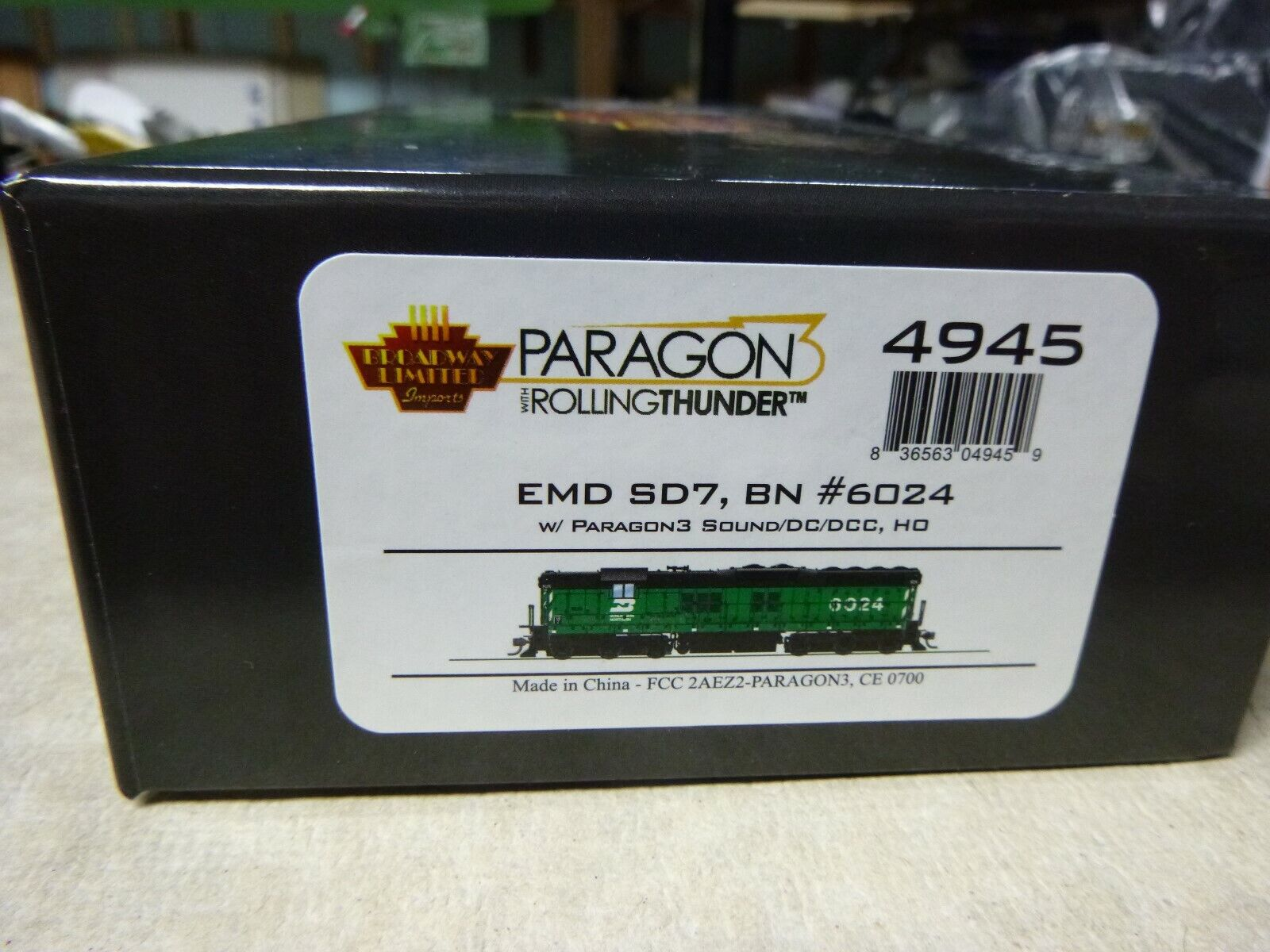 Ho Broadway Limited SD-7 Burlington Northern DCC Paragon 3 Sonido Humo