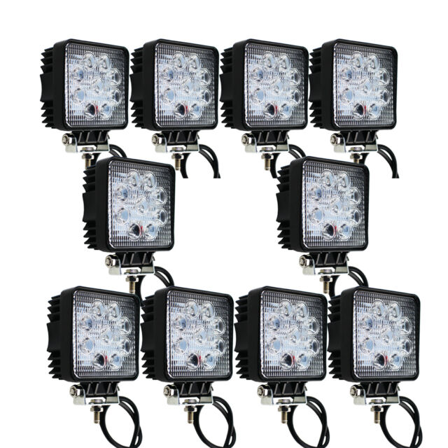 10X 27W LED Work Light Spot Square BeamOff-road Driving LampTruck ATV SUV Boat,.