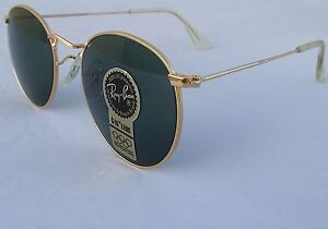 e074be422c New Vintage B L Ray Ban Round Metal Gold G-15 Grey 49mm W0603 ...