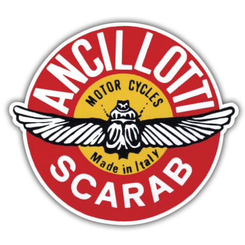 ANCILLOTTI SCARAB motorcycle scooter retro 90mm x 85mm