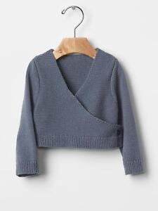0aa415a554e9 GAP Baby Girls Size 3-6 Months NWT Gray   Blue Ballet Knit Wrap ...