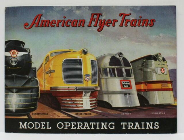 Original 1936 American Flyer Train Catalog Exc Cond w order Form