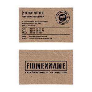 Visitenkarten individuell Business Karten 300g/qm 85 x 55 mm - Entsorgung