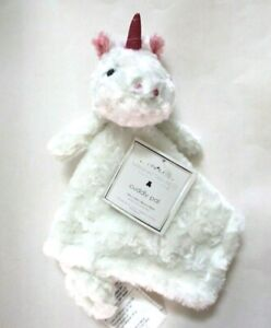 Manhattan-Kids-Baby-Ivory-Unicorn-Rosette-Plush-Cuddly-Pal-Security-Blanket