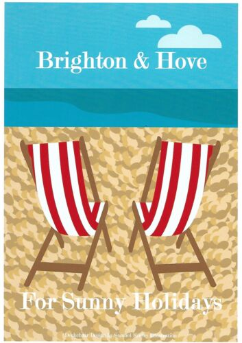 Retro Personalised Sunny Holidays art poster print A4