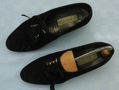 THERESIA Damenschuhe echt Leder, Gr. 8, schwarz, Wildleder, superflexibel,
