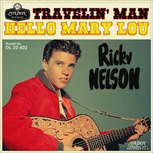 7-034-RICKY-NELSON-Hello-Mary-Lou-Travelin-039-Man-LONDON-Rock-039-n-039-Roll-Germany-1961