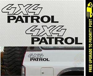 Nissan-Patrol-Gu-4x4-Stickers-Turbo-4wd-Gq-Ute-PAIR-200mm
