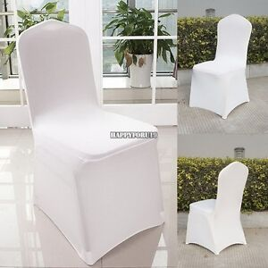 Admirable Details About 300P Chair Cover Universal Stretch Spandex Chair Cover Wedding Party Lycra White Machost Co Dining Chair Design Ideas Machostcouk