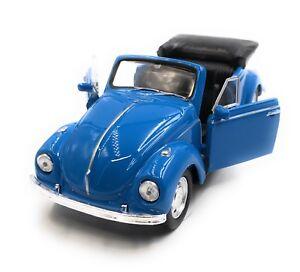Modellino-Auto-VW-Maggiolino-Beetle-Cabrio-Blu-Auto-1-3-4-39-Licenza