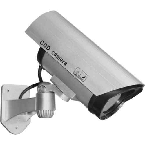 Realistic Replica Dummy CCTV Security Camera for Home with Flashing Red LED
