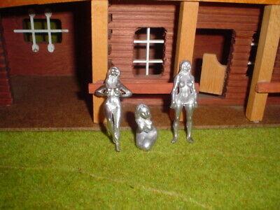 3 Nackte Frauenfiguren In 60 Mm Grösse In Zinn -en- NüTzlich FüR äTherisches Medulla