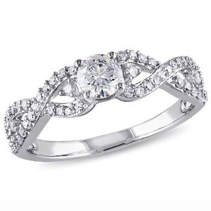 Amour-14k-White-Gold-3-4-Ct-TDW-Infinity-Diamond-Engagement-Ring-G-H-I1-I2