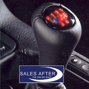 Original-BMW-M-Schaltknauf-beleuchtet-Leder-schwarz-3er-E36-5er-E34-5-Gang-NEU