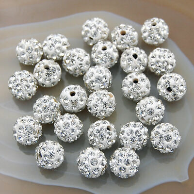 US Seller wholesale 100pcs black Crystal 12MM Shamballa Rhinestone beads A