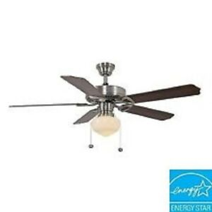 Hampton bay tri mount 52 in brushed nickel ceiling fan replacement image is loading hampton bay tri mount 52 in brushed nickel aloadofball Gallery