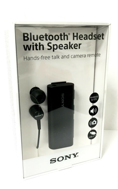 Sony Sbh56 Bluetooth Nfc One Touch Headset With Speaker Talk Camera Remote Black For Sale Online Ebay